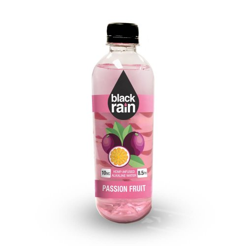 Black Rain Hemp Infused Alkaline Water Passion Fruit