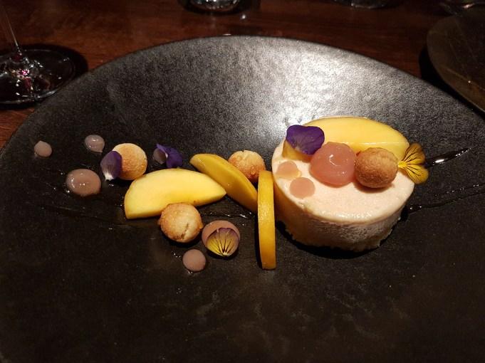 Peach parfait dessert