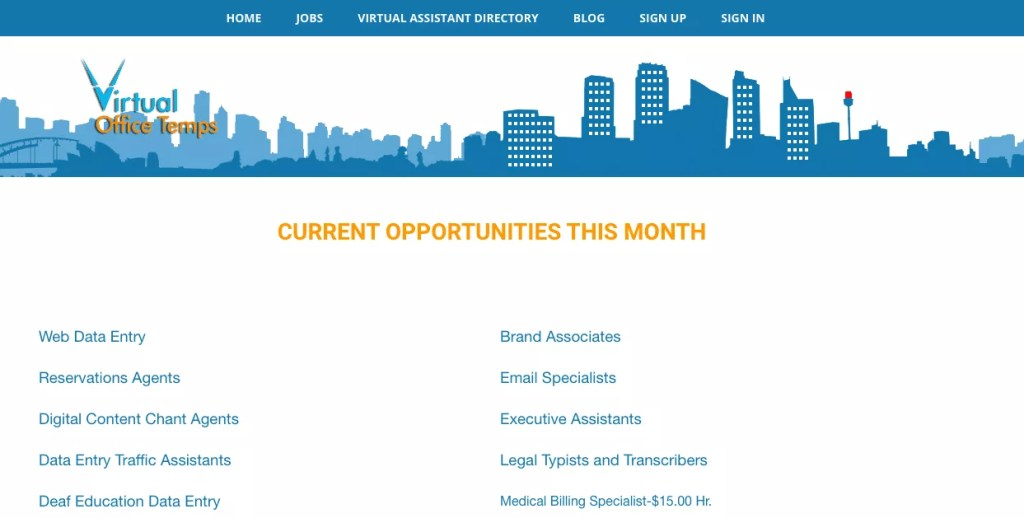 Websites with Virtual Assistant Jobs