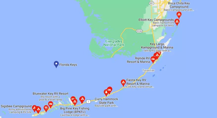 Campgrounds on the Florida Keys