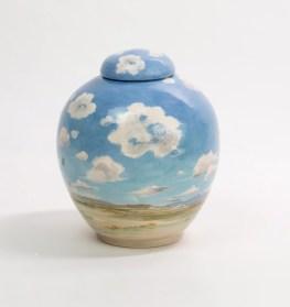 sky and cloud urn