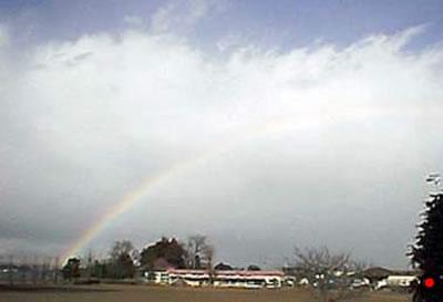 通り雨の後の虹