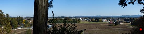芳賀天満宮から芳賀の遠景写真