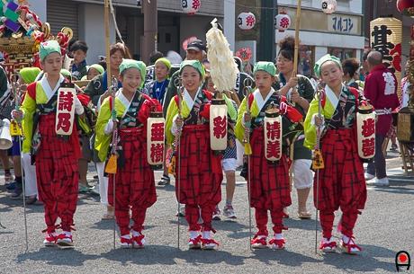 真岡市荒神祭手古舞の子達の写真