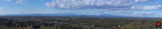 益子の森展望塔からの眺め11月の写真