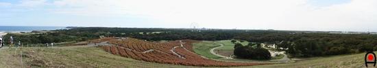 みはらしの丘から陸側の眺めの写真