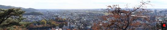織姫公園レストラン棟付近からの眺めの写真