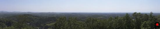 千本城趾展望所からの眺め