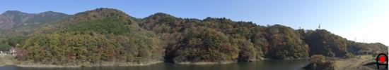 もみじ谷大吊橋からの眺め