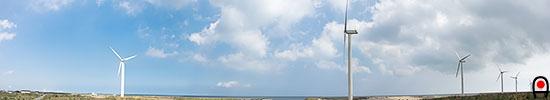 須田浜海岸の風車の写真