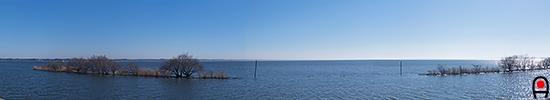 歩崎公園からの霞ヶ浦の眺めの写真
