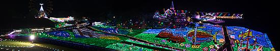 東京ドイツ村イルミネーション・芝桜の丘から