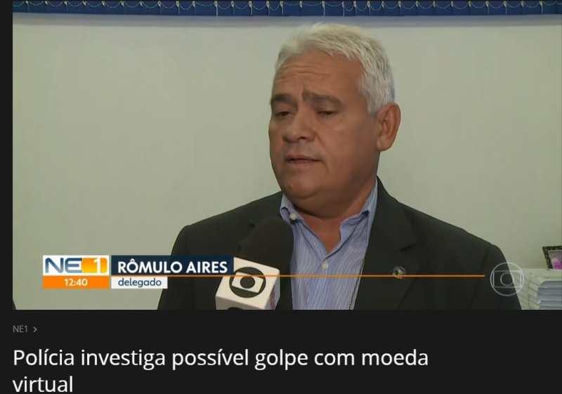 Delegado Falando sobre o possível Crime: Fonte: Globo