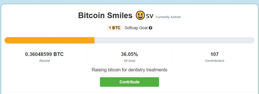 Bitcoin Smiles has already collected 0.36 Bitcoin to put teeth in needy people