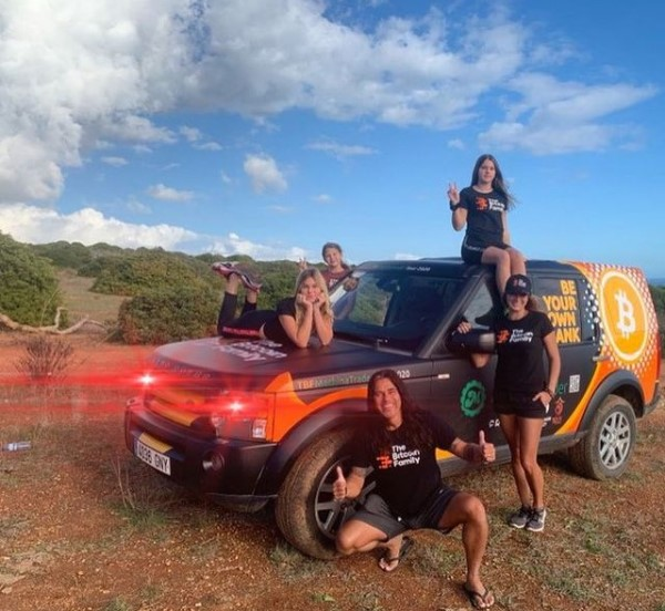 Bitcoin family on the road