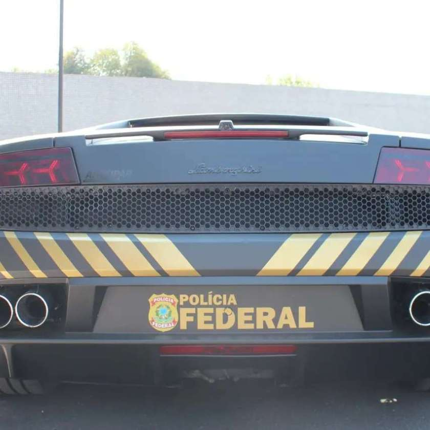 Rear of the Federal Police's Lamborghini