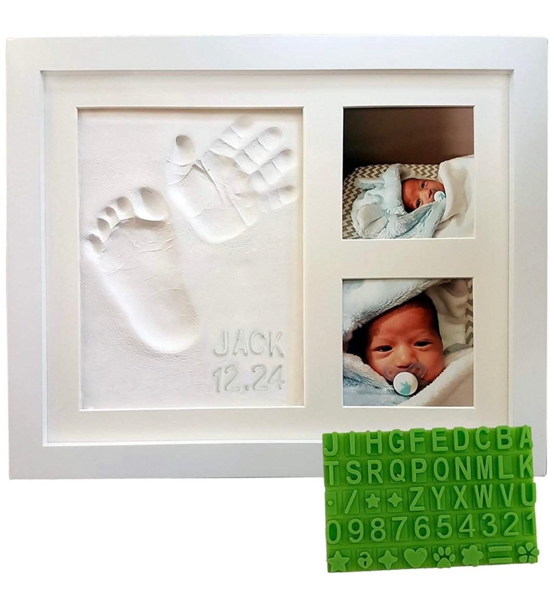 Baby Handprint & Footprint Keepsake Photo Frame Kit