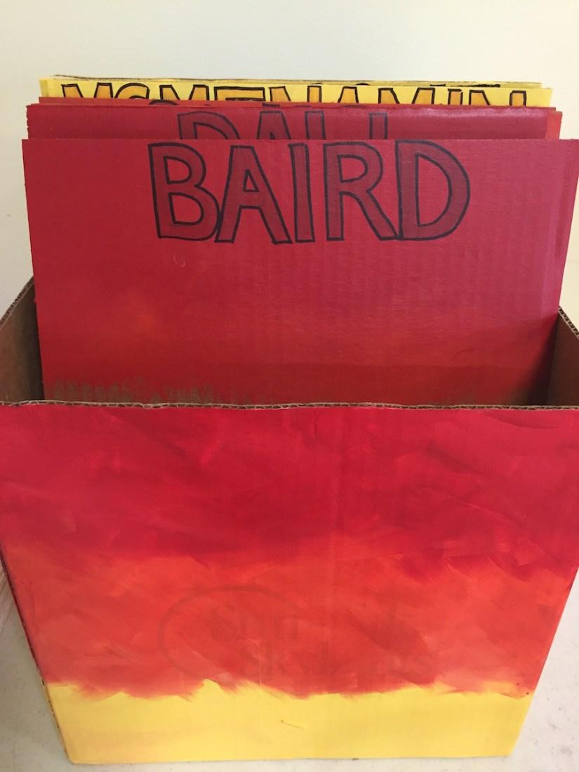 student portfolio box