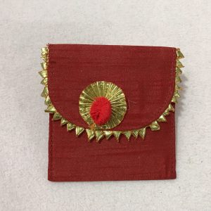 Red Small Gota Shagun Envelope with Magnetic Lock