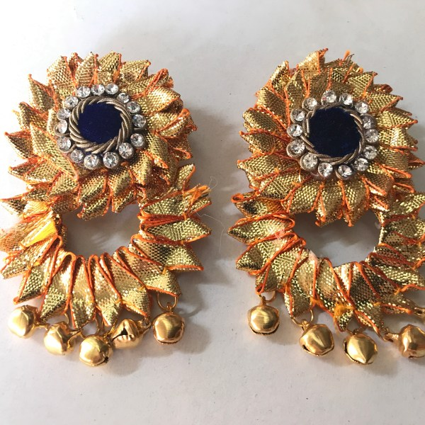 Blue Gota Jewellery Earrings for Haldi