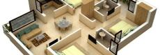 15 Denah Rumah 3 Kamar Minimalis 3D Terbaru 2018