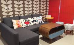 20 Model Sofa Minimalis Modern Untuk Ruang Tamu Kecil merah