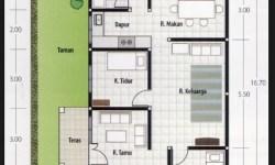 Denah Rumah Ukuran 6x9 2 Kamar Tidur Bentuk Rumah Sederhana Ukuran