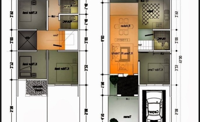 Desain Rumah Minimalis Lebar 3 Meter  42 gambar tampak depan rumah minimalis lebar 10 meter 3