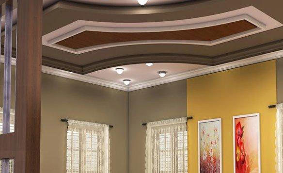 Contoh Gambar Plafon Pvc  model plafon ruang tamu minimalis terbaru 2019 2020 rumah