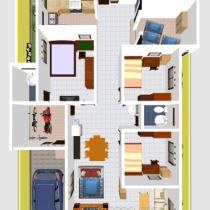 88 Desain Rumah Sederhana 6x12 3 Kamar Tidur