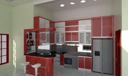 Harga kitchen set minimalis olympic murah dan terbaru for Harga kitchen set per meter