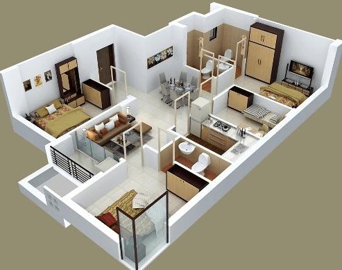 Contoh Denah Rumah Minimalis Type 54  99 denah rumah minimalis 3 kamar tidur type 36