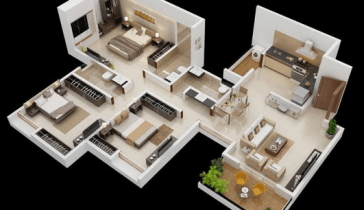 Denah Rumah 3 Kamar Tidur 1 Mushola Dalam Rumah Terbaru