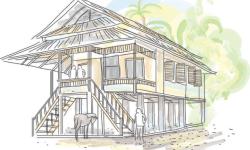 60 Gambar Sketsa Rumah Adat Indonesia Terbaru
