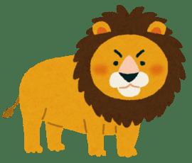 ライオンが金玉を噛まれている