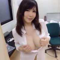 沖田杏梨 爆乳AV女優の自撮りエロ写メやハメ撮り画像