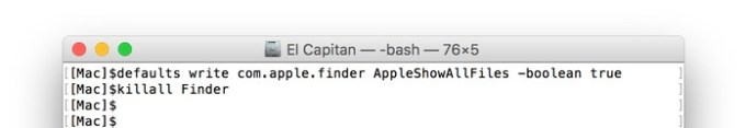 defaults-AppleShowAllFiles-command
