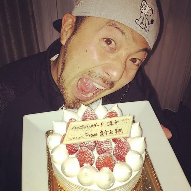 菊池涼介_平田良介_中田翔_誕生日ケーキ