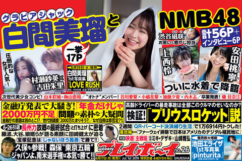 【朗報】NMB48が今日発売の週プレでグラビアジャック!62ページ!