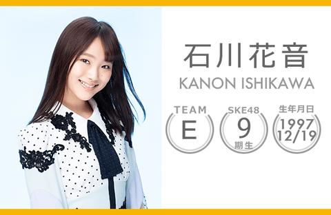 【SKE48】石川花音が卒業発表したのにスレが立っていないんだが