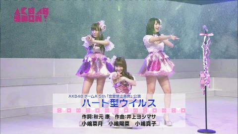 【AKB48G】人気の高いユニット曲といえば?