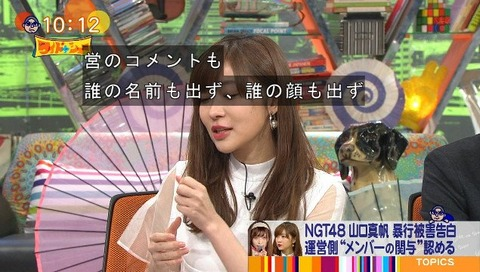 【HKT48】指原莉乃さんワイドナショーで正論「私が一番問題だと思ったのは誰がトップなのかわからない状況」