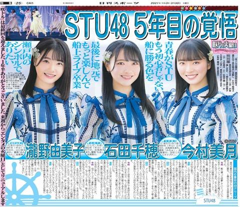 【悲報】STU48♡瀧野由美子ちゃん♡、もう石田千穂にまったく歯が立たない