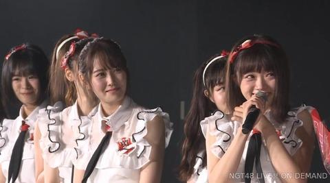 【NGT48】中井りか、村雲颯香卒業公演で号泣き