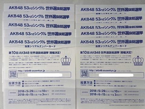 【AKB48総選挙】どのメンバーに何票入れたか正直に言ってくスレ