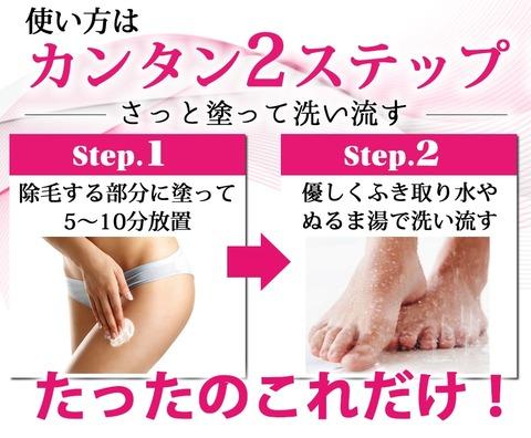 使い方2ステップ