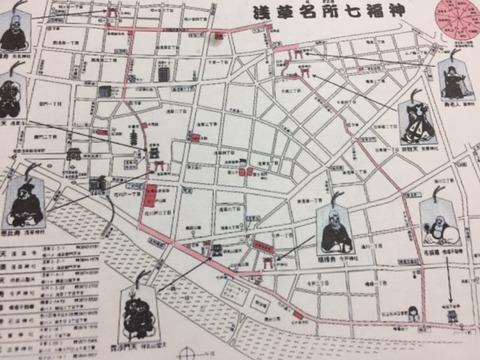 浅草七福神めぐり地図