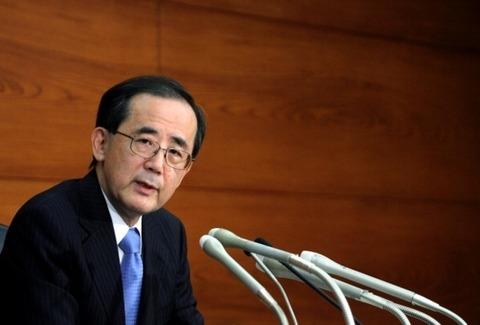 日本デフレ化計画の首謀者白川元日銀総裁