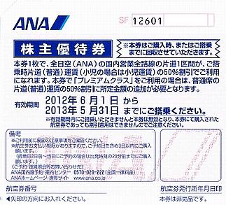 全日空(ANA)の株主優待