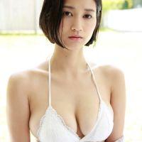 出口亜梨沙(22)推定Fカップの巨乳水着姿のグラビアがぐうシコww